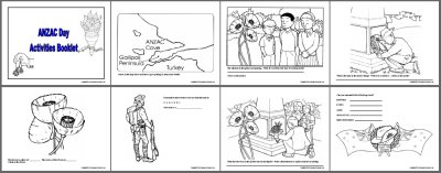 colour in activities anzac websites - To Colour In